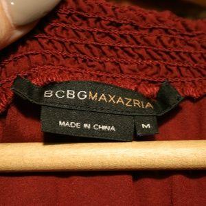 BCBGMaxAzria Tops - BCBGMaxAzria 95% Silk V-Neck Ruched Blouse